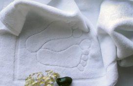 Dywanik ręcznik hotelowy biały